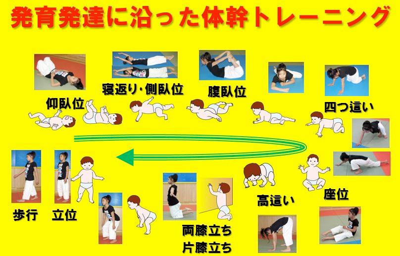 発達運動学に沿った体幹トレーニング